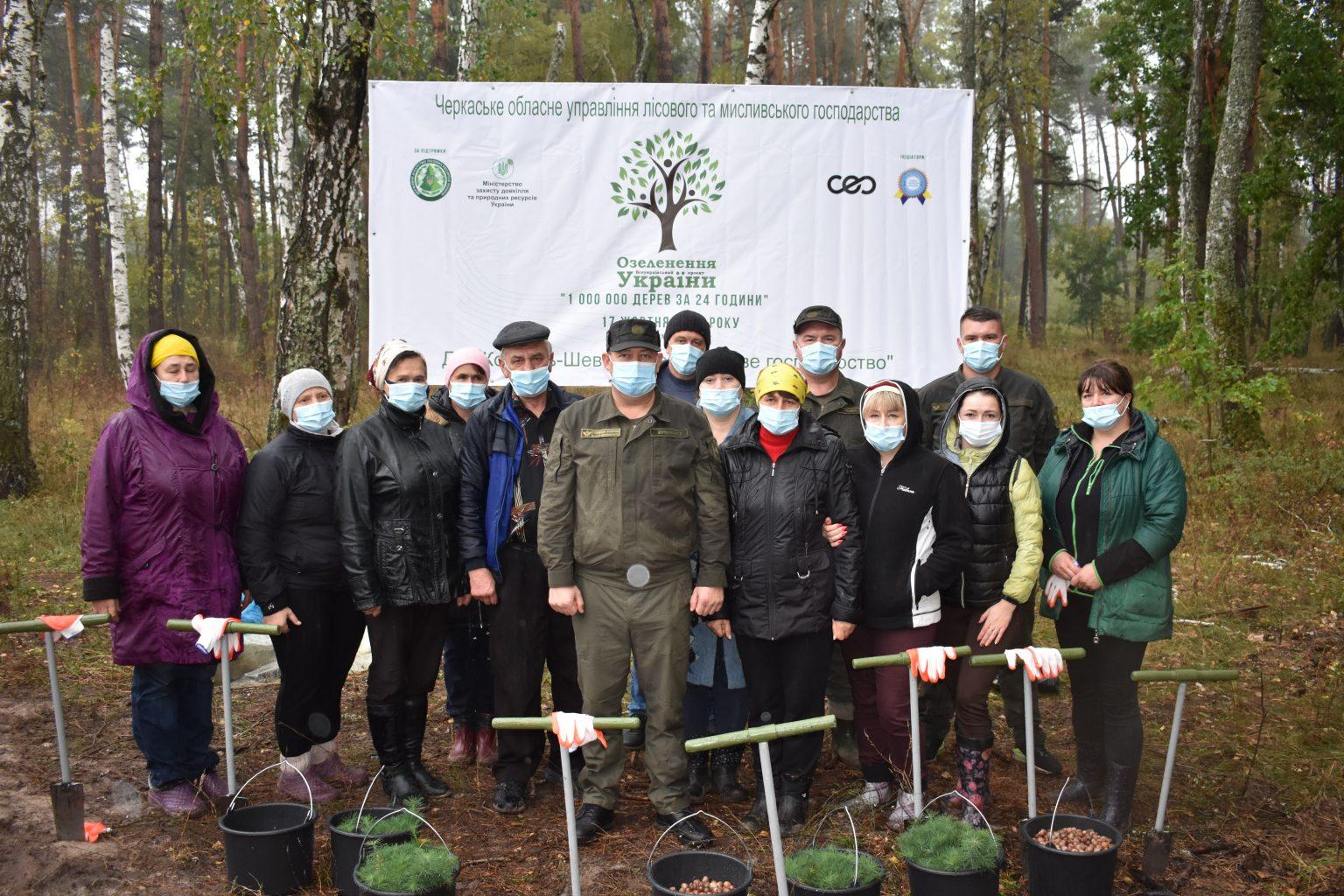 З початку року на Черкащині висадили понад 100 гектарів молодого лісу