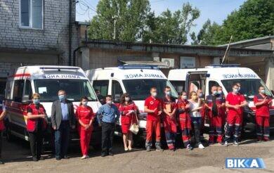 Медики Черкащини отримали 22 нові «швидкі» (Фото)