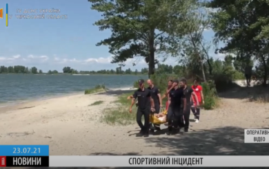 В Черкасах чоловік травмував ногу під час пробіжки: рятувальники госпіталізували постраждалого(ВІДЕО)