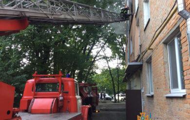 Через пожежу на Черкащині евакуювали людей