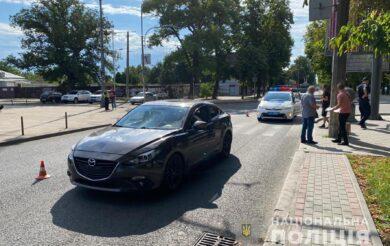 На головній вулиці Черкас збили пішохода (Фото)