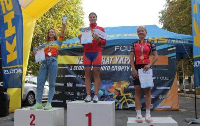 Черкащанка стала чемпіонкою України з велоспорту