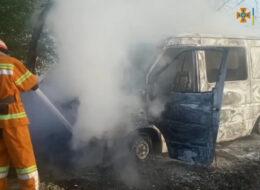 автомобіль пожежа Уманщина